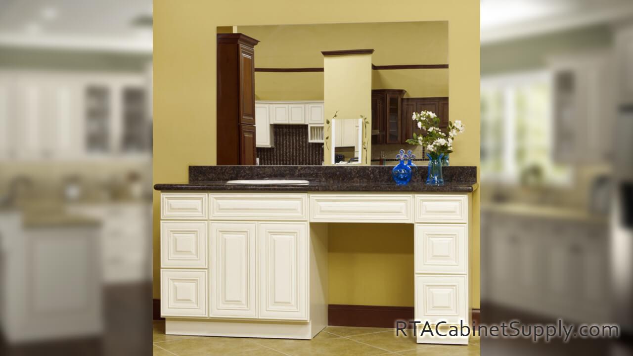 Charleston Cream Ready To Assemble Kitchen Cabinets