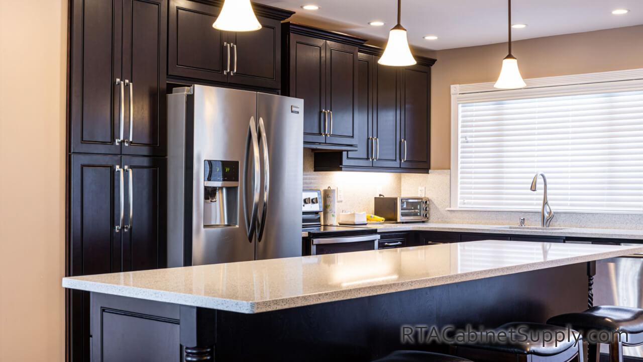 Modern Espresso Pre Assembled Kitchen Cabinets