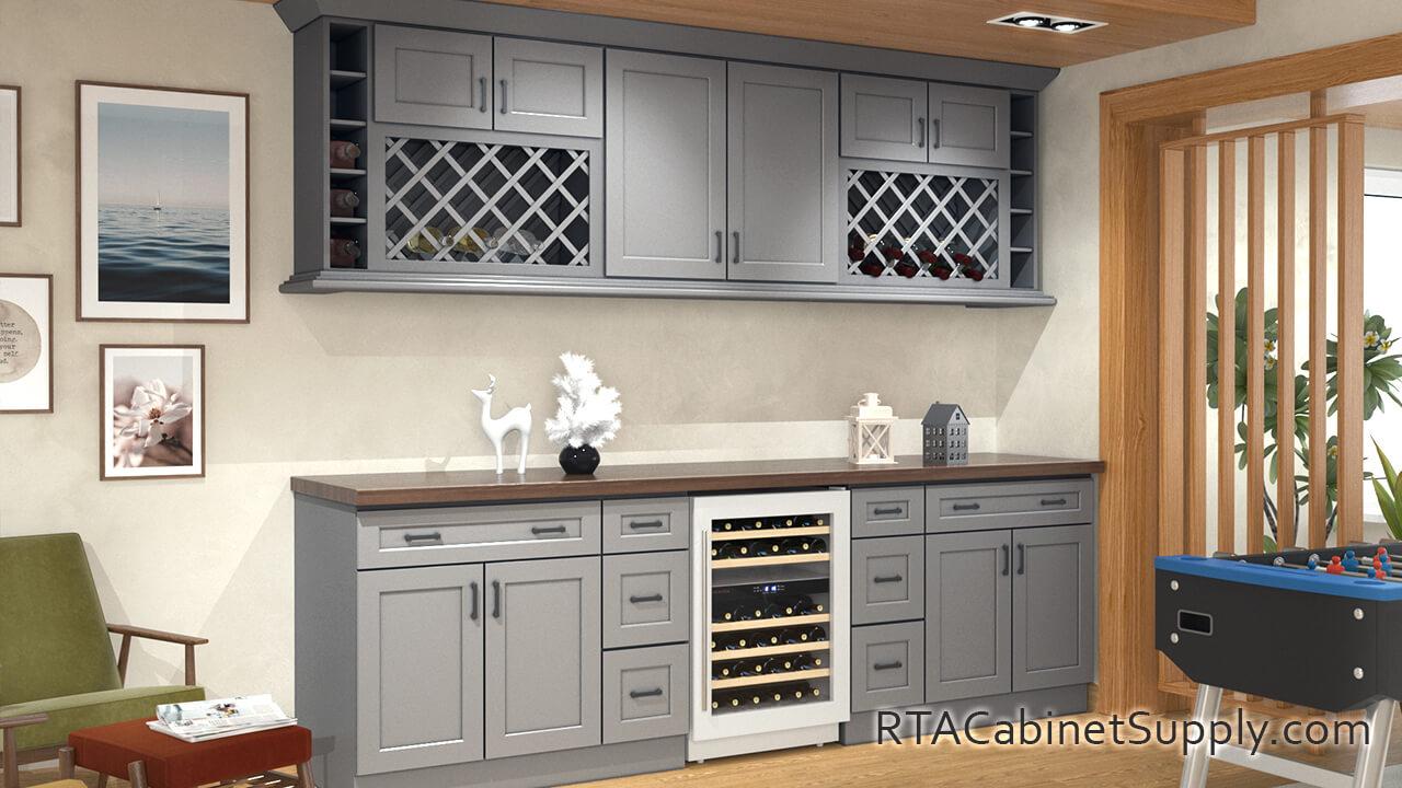 Salem Grey Shaker Ready To Assemble Kitchen Cabinets