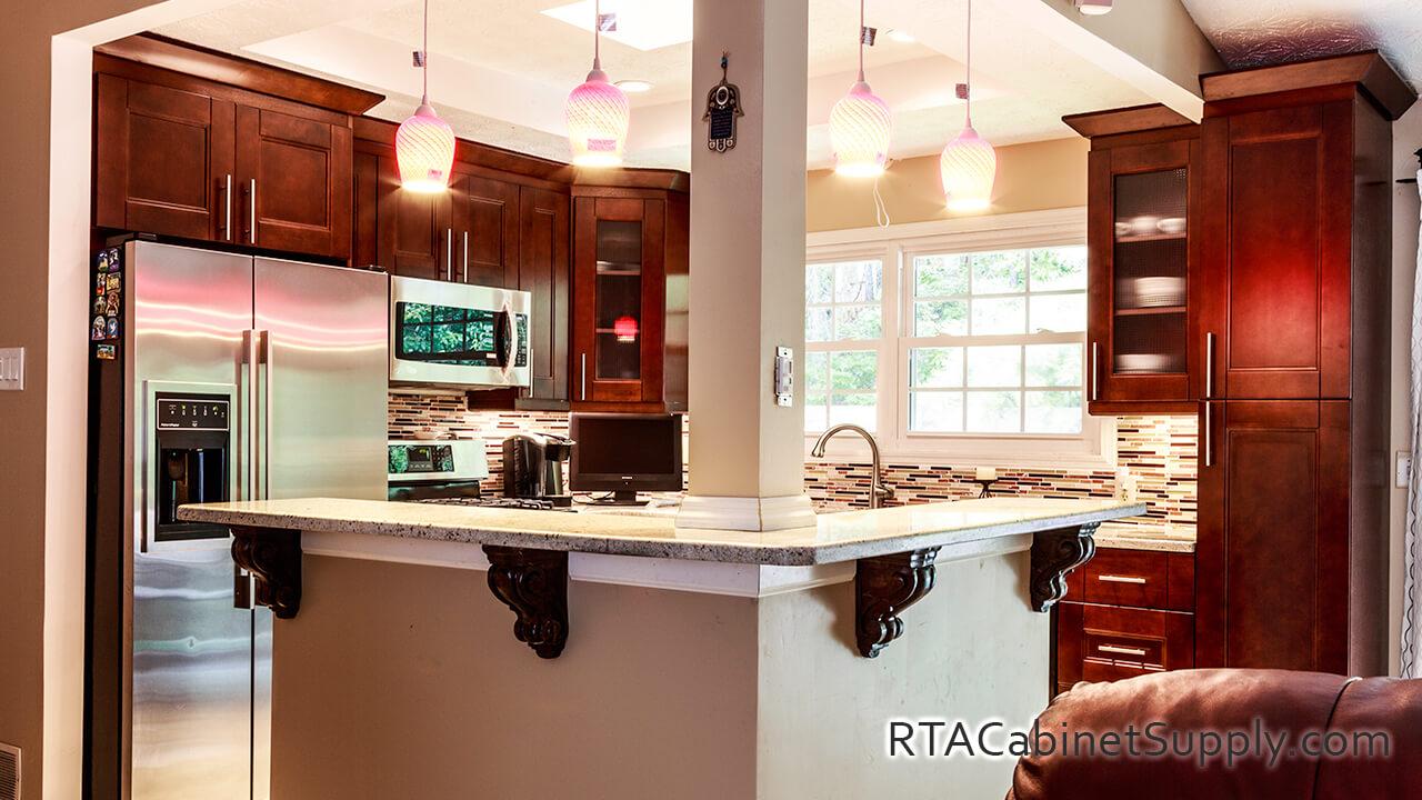 Walnut Shaker Pre Assembled Kitchen Cabinets