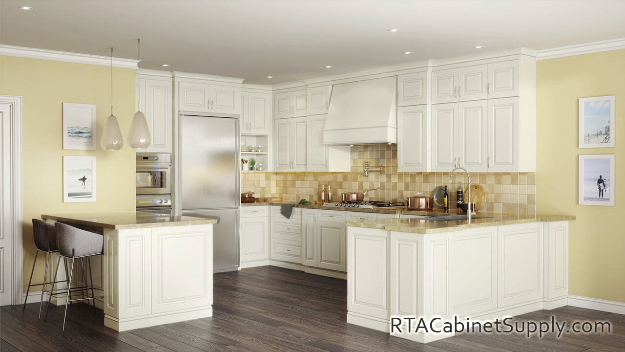 Windsor Ivory Ready To Assemble Kitchen Cabinets
