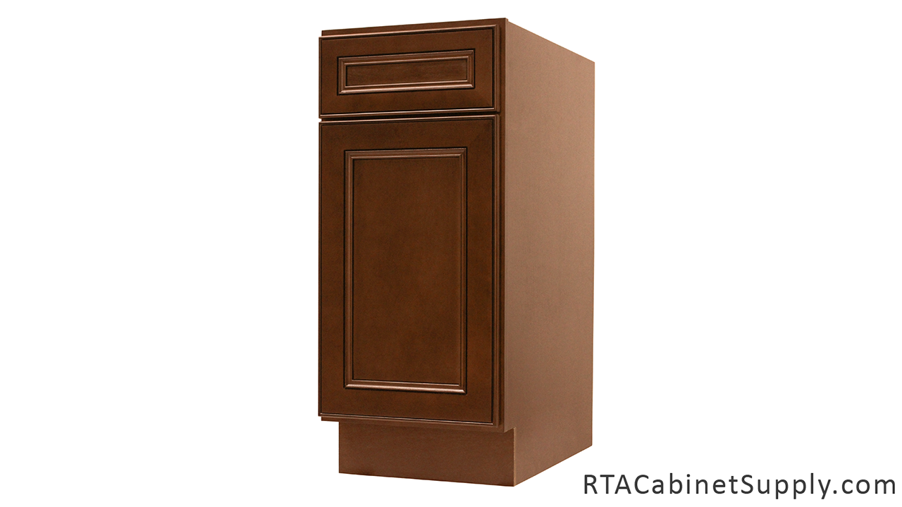 Chocolate mahogany pre assembled cabinets for Pre assembled cupboards