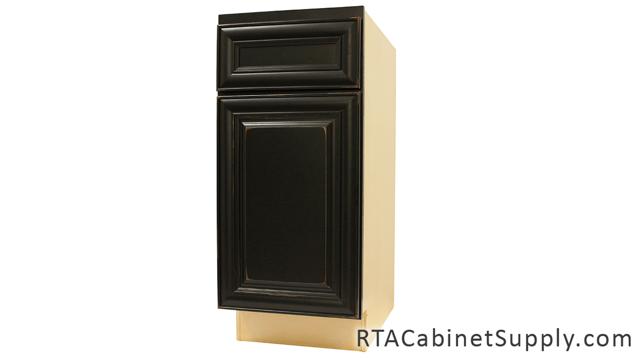 Distressed Black Ready To Assemble Cabinets
