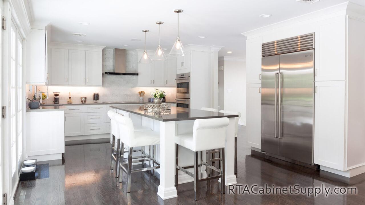 Classic White Shaker 10X10 Kitchen Set RTA