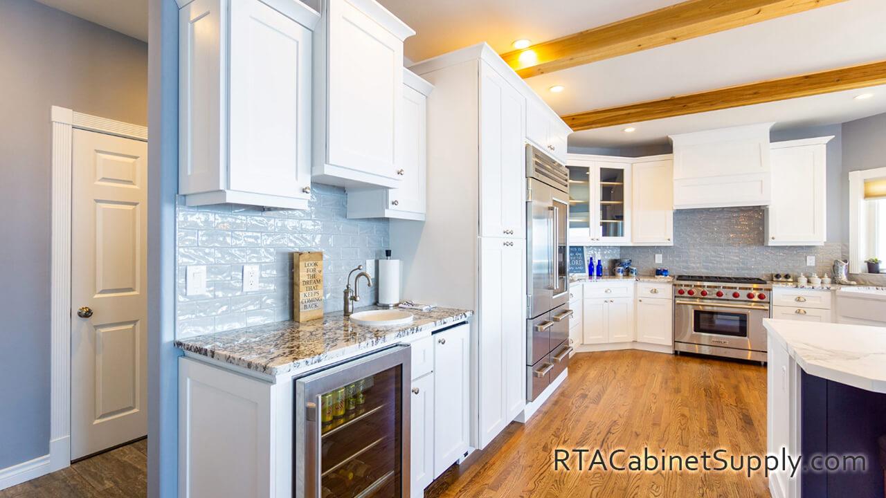 Classic White Shaker RTA - Kitchen Cabinet Sets