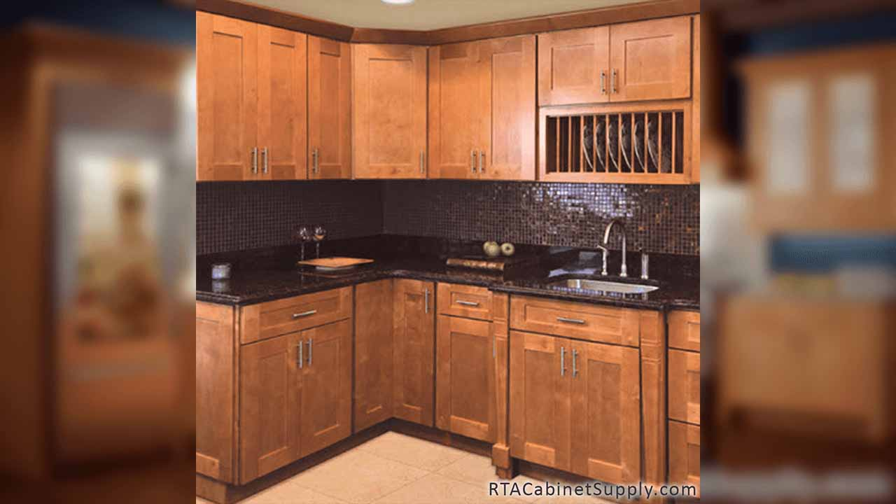 Natural Shaker Ready To Emble Cabinets