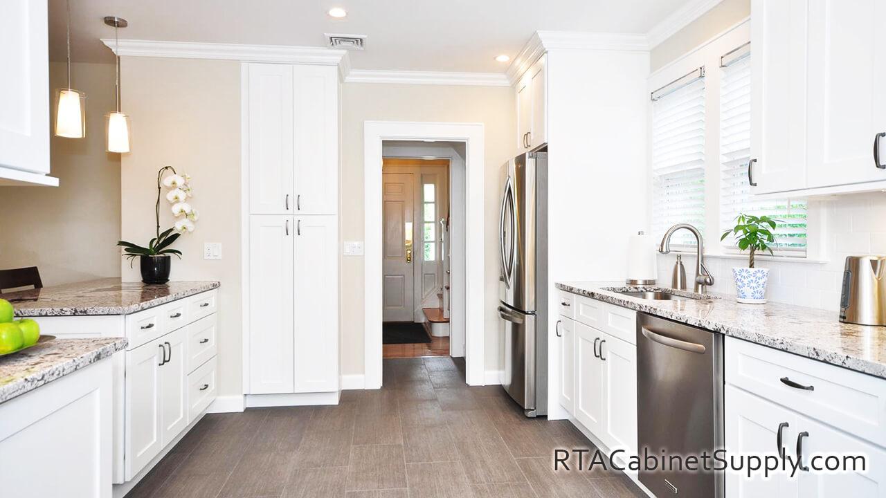 Newport White Shaker - Pre-Assembled Kitchen Cabinets