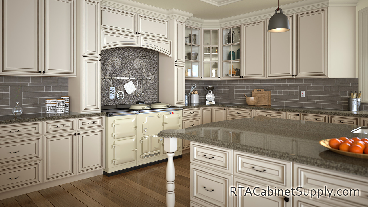Pearl Glaze - Ready to Assemble Cabinets