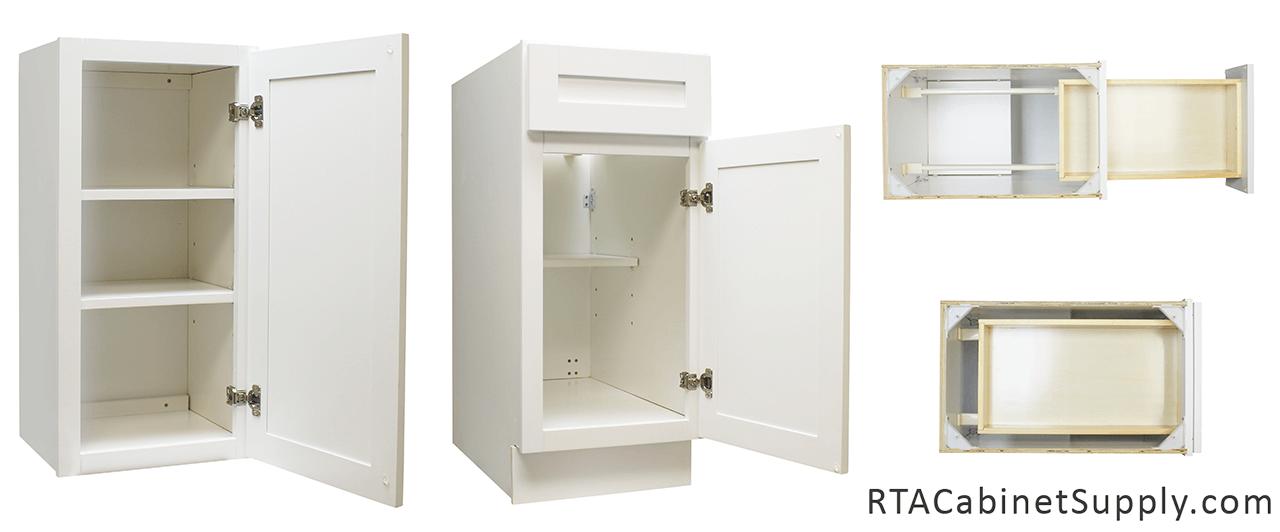 Shiny white kitchen cabinets